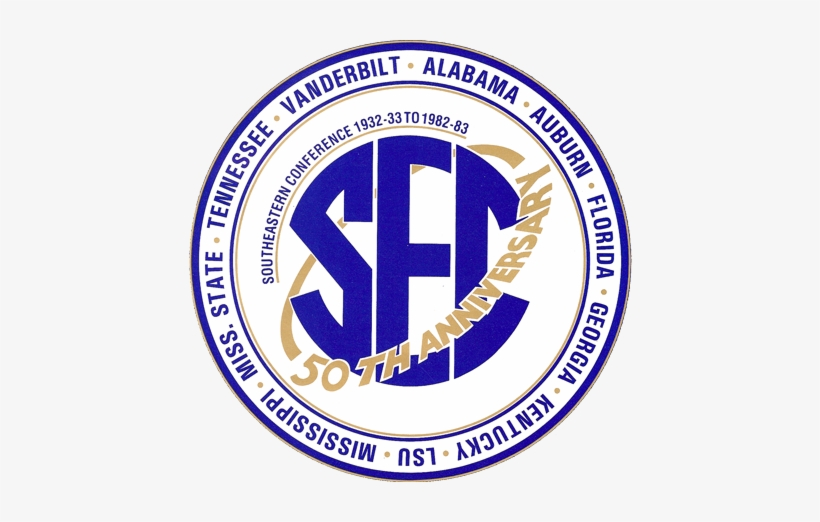 Southeastern Conference Logo - 50th Anniversary, transparent png #787376