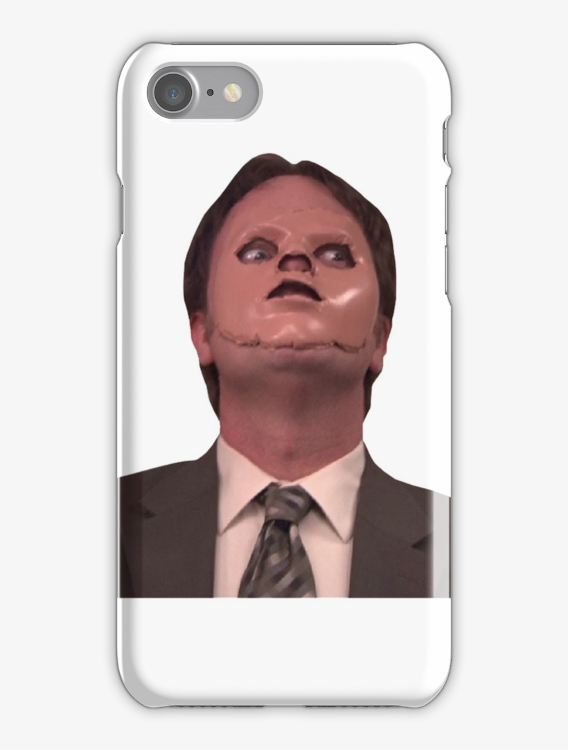 Dwight Schrute Cpr Mask Funny Iphone 7 Snap Case - Funny Face Mask Memes, transparent png #7807605