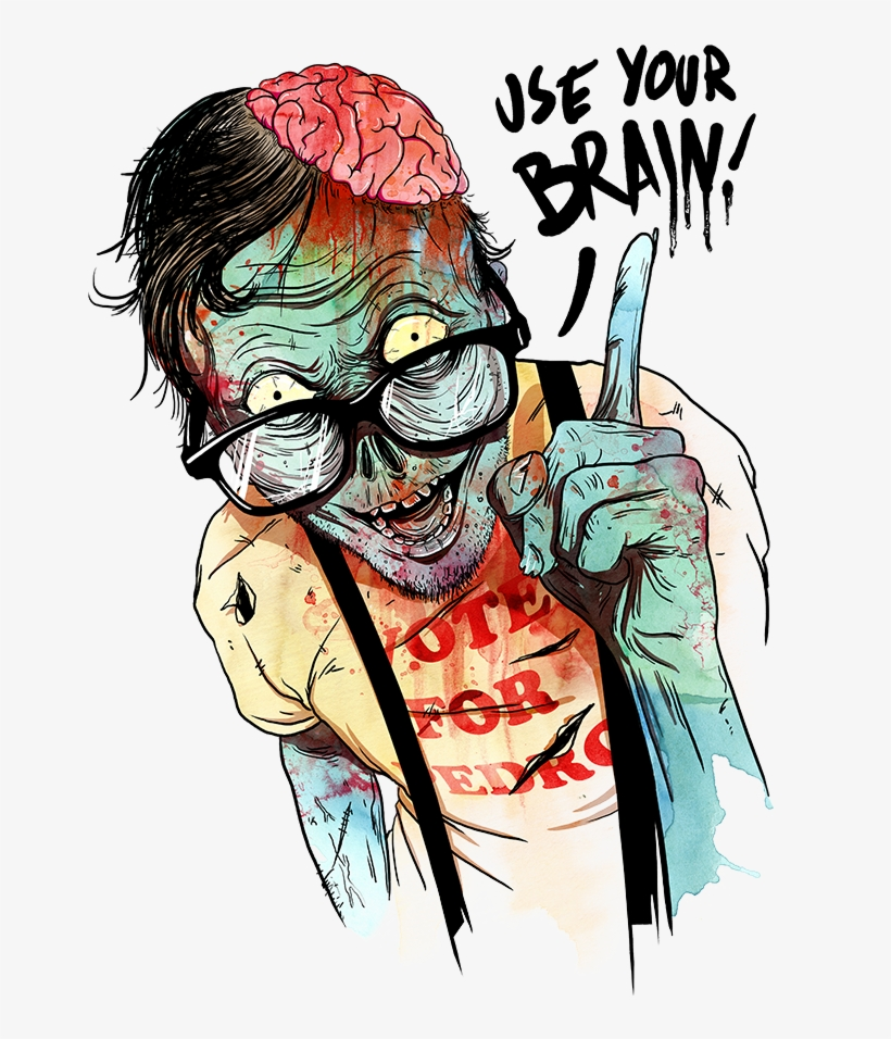 Artwork 2fnbfd70ln58fcynsliavq Eongltscl8idcsqbi7ye - Zombie Use Your Brain, transparent png #7817777