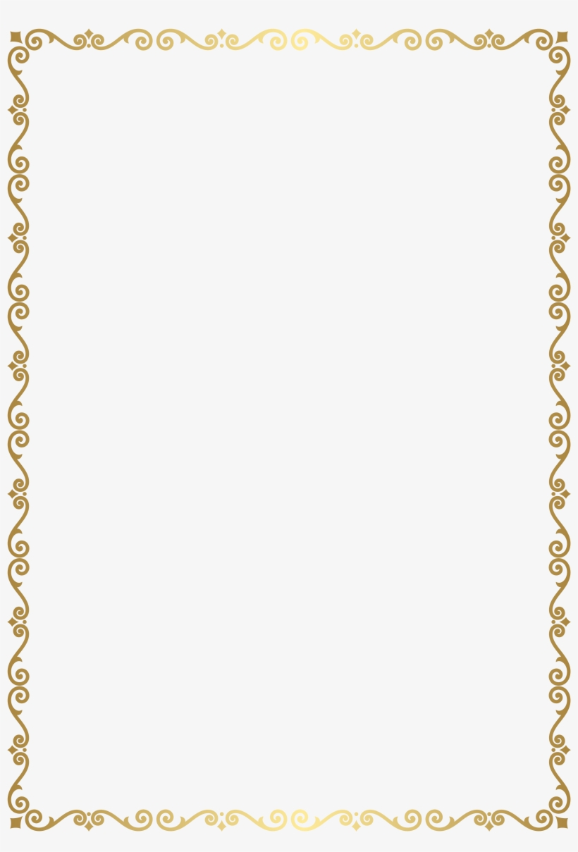 Border Frame Golden Transparent Clip Art Image Gallery - Transparent Golden Border Frames, transparent png #7818183