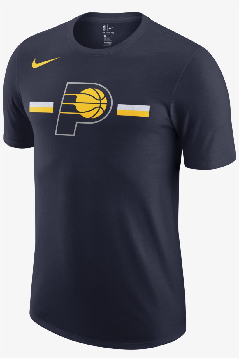 Nike Nba Indiana Pacers Logo Dry Tee For - Nike Indiana Pacers Shirts, transparent png #7820584