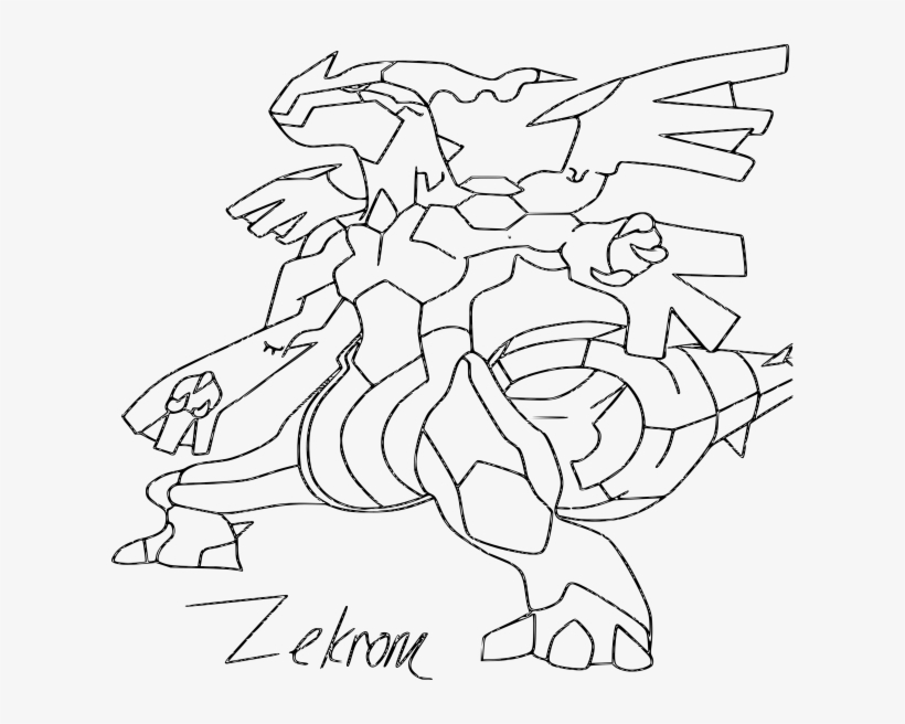 Coloriage Zekrom Pokemon Dessin A Imprimer Pokemon Zekrom