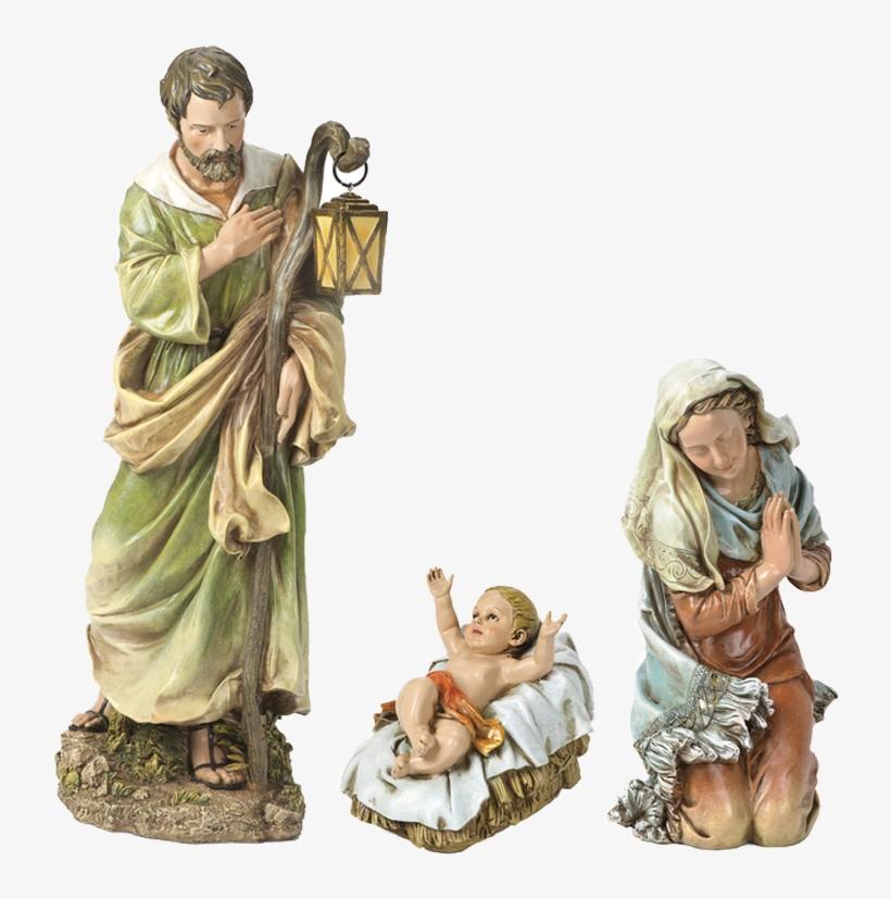 Nativity Roman Holy Family - Holy Family Nativity Statue, transparent png #7825639