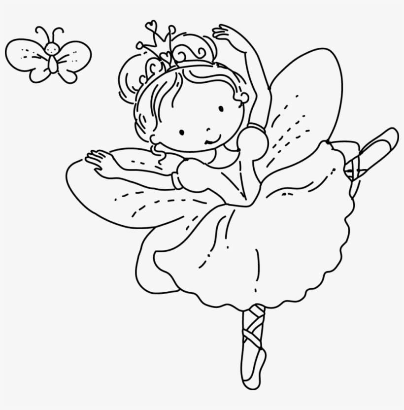 Fairy Princess Coloring Pages, transparent png #7837917