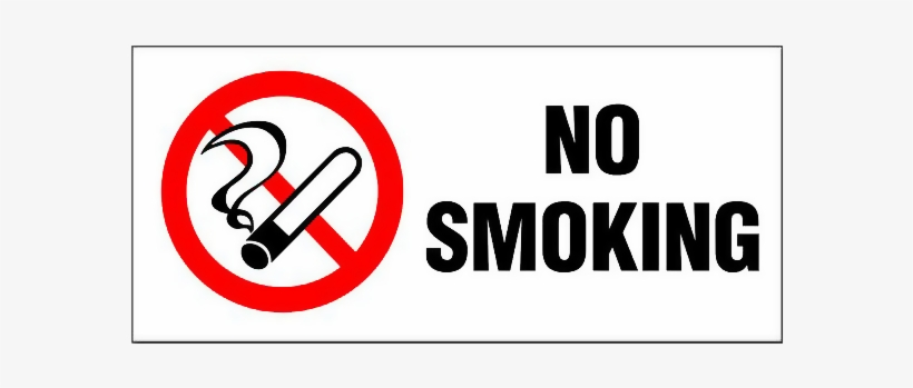 It is a graphic of No Smoking Sign Printable for silhouette