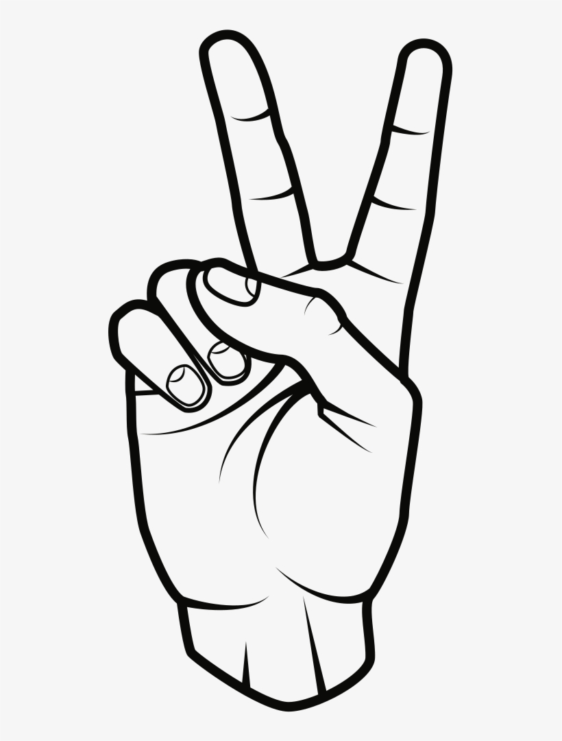 Peace Sign - Hand Peace Sign Clipart, transparent png #7842506