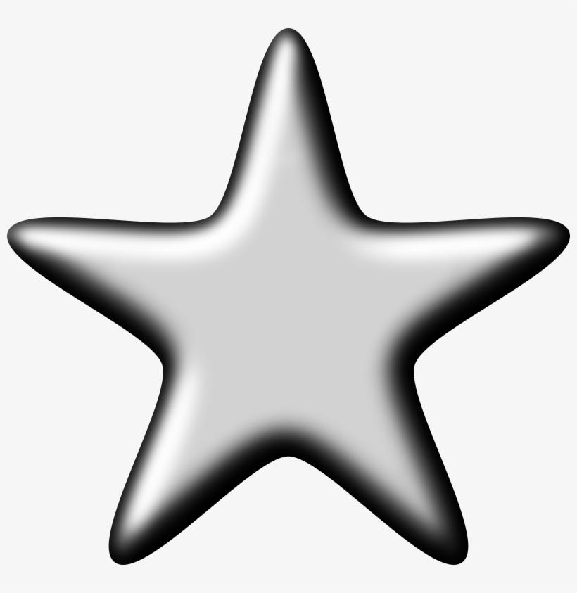 3d Silver Star, transparent png #7843160