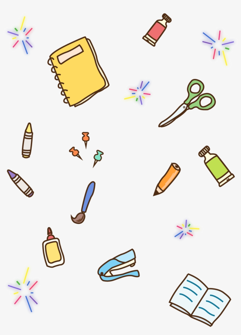School Supplies Pencil Book Crayons Png And Vector, transparent png #7851401