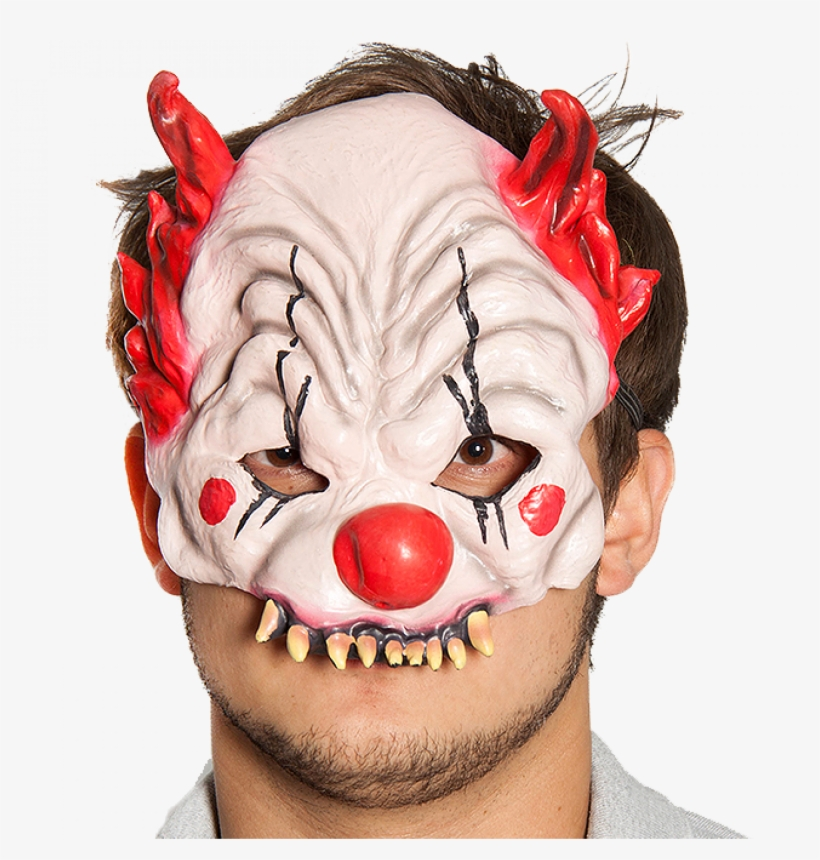Evil Clown Mask - Clown, transparent png #7851560