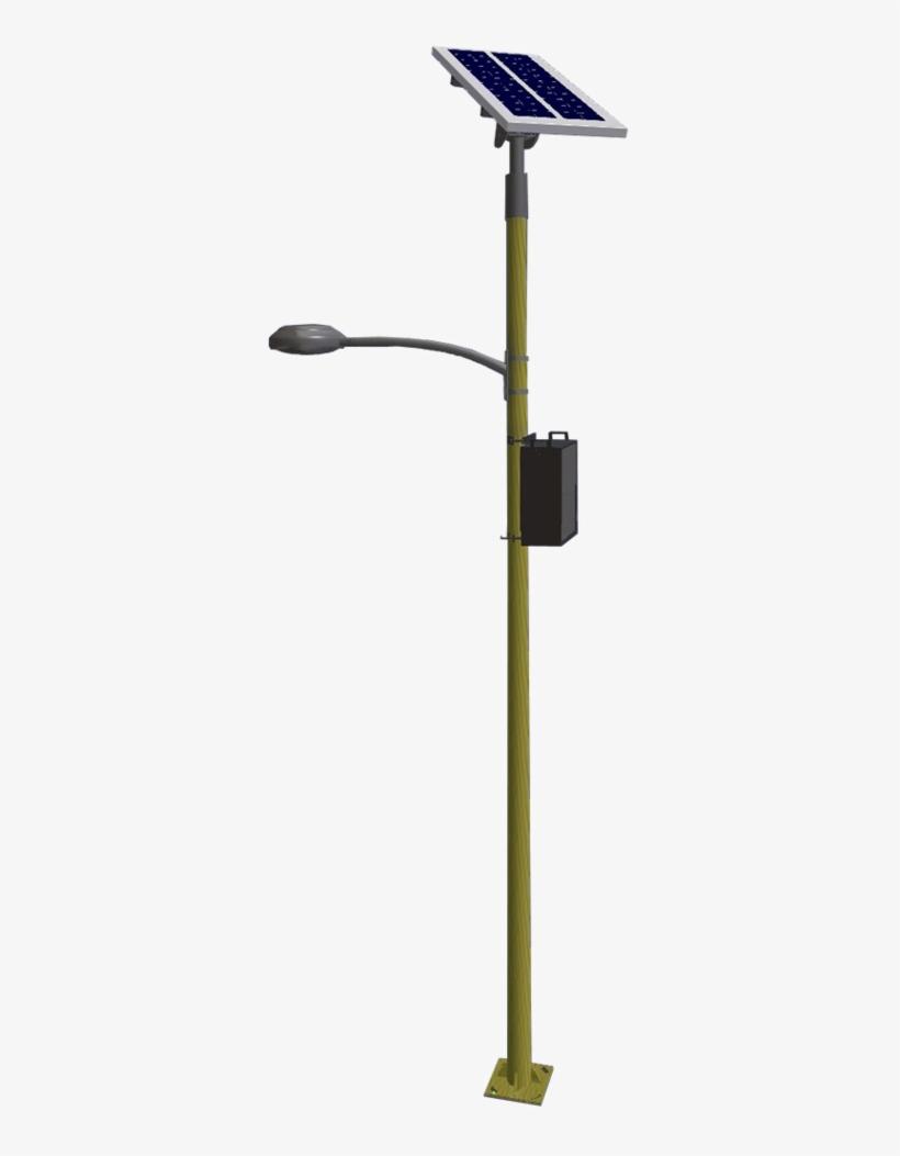 Solar Lighting Png Pic - Solar Led Street Light Pole, transparent png #7861565