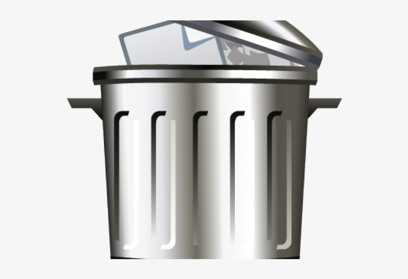Trash Can Clipart Emoji - Png Cartoon Trash Can, transparent png #7863860