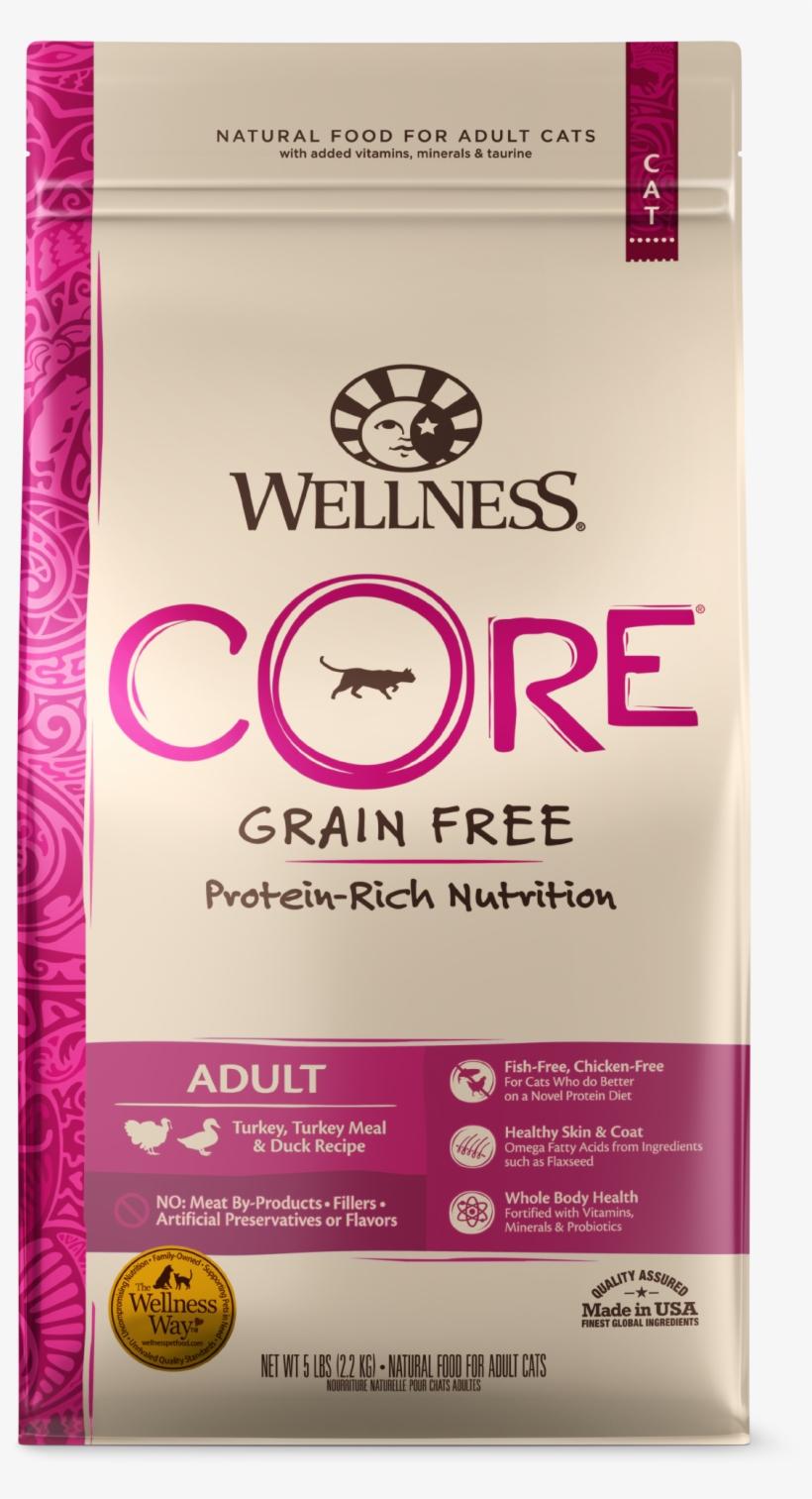 Core Dry Cat Turkey - Wellness Core Grain Free Kitten, transparent png #7865699