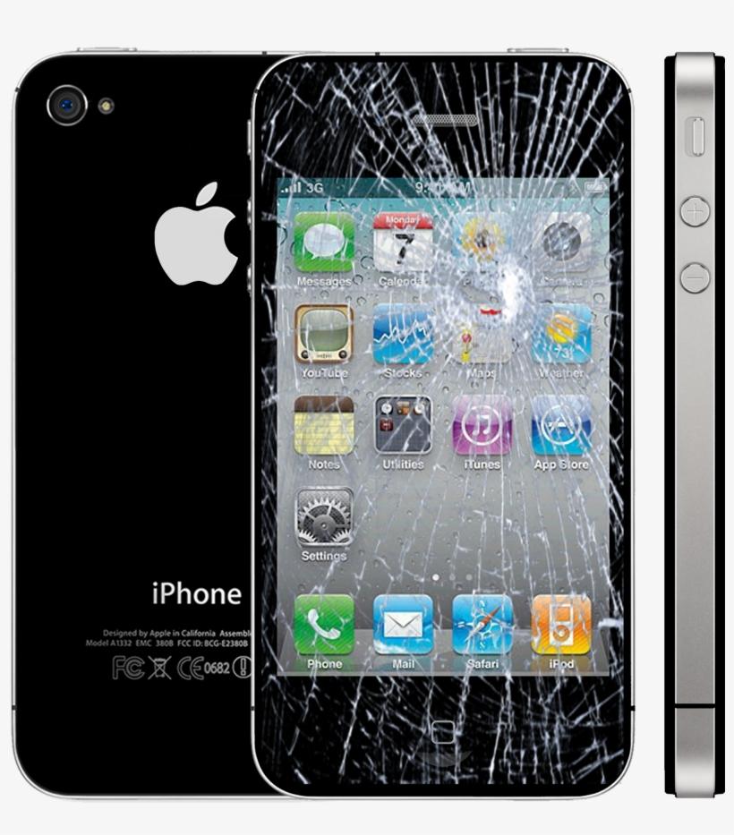 Pantalla Rota Iphone 4 Salmobile - Iphone 4, transparent png #7880284