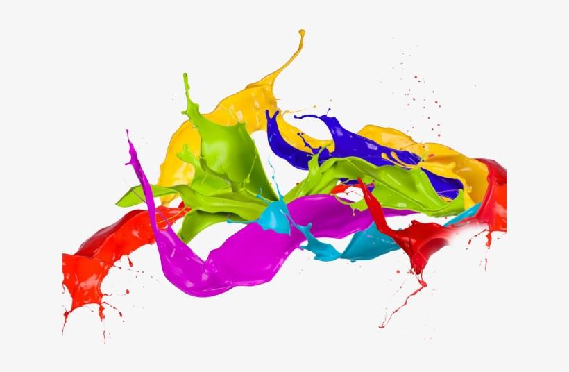 Splatter Clipart Color Splash - Color Ink Splash Png, transparent png #7886025