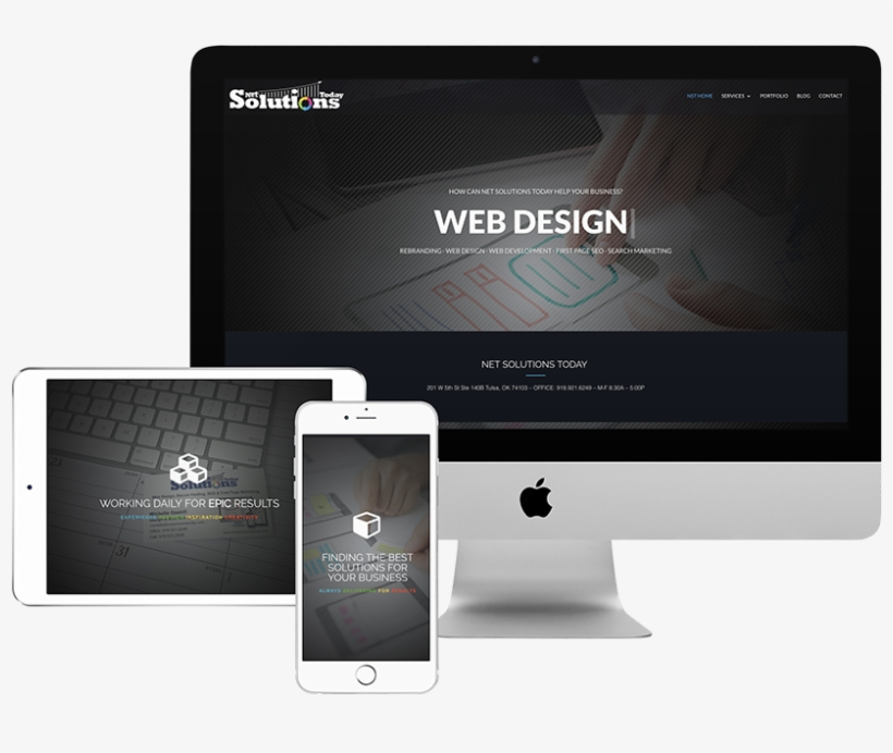 We Can Develop A Custom Wordpress Site From The Ground - Imac Ipad Iphone Mockup, transparent png #7888323