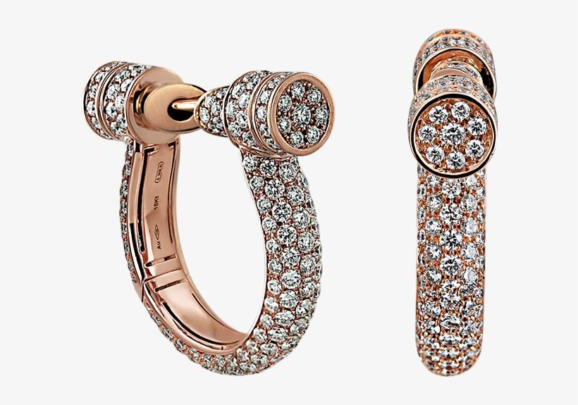 Estribo Full Pave Diamond Earrings - Earrings, transparent png #7888605