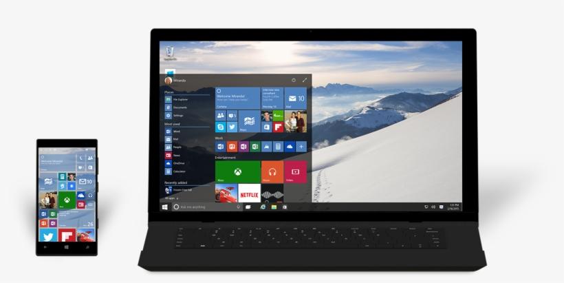 New Windows 10 Build Arrives Next Week, First Build - Windows 10 Phone Desktop Mode, transparent png #7893887