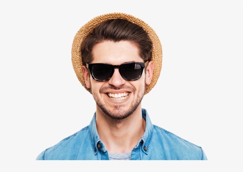 Mens Gucci Sunglasses On Face, transparent png #7894820