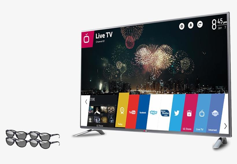 Smart Tv Led Lg 55lb6500 55'' Full Hd Cinema 3d Hdmi - Lg Life's Good Smart Tv, transparent png #7895984