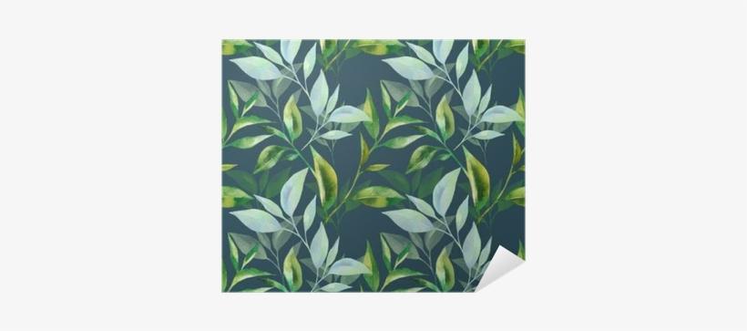 Floral Seamless Pattern With Tea Leaves - Tea Leaf Pattern, transparent png #792005