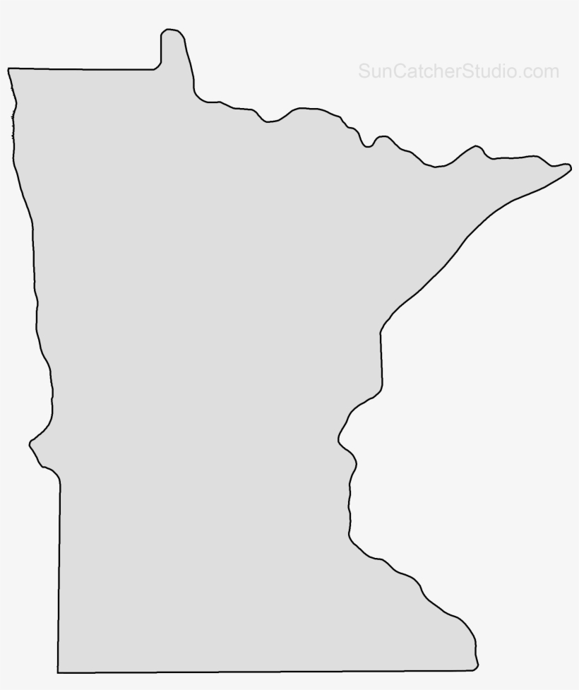 Minnesota Map Png.Minnesota Map Outline Png Shape State Stencil Clip Little