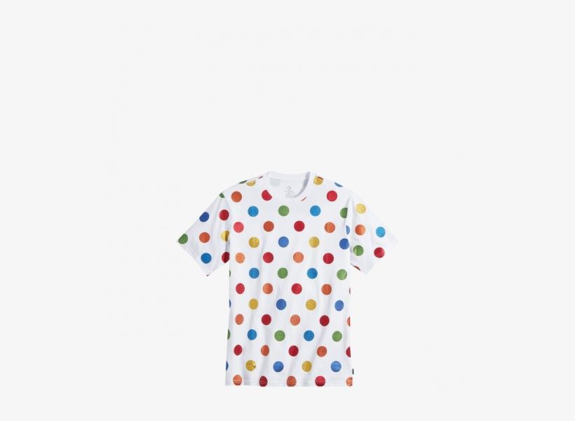 Converse Pride X Miley Cyrus Polka Dot T Shirt White - Converse Pride X Miley Cyrus T Shirt, transparent png #793140