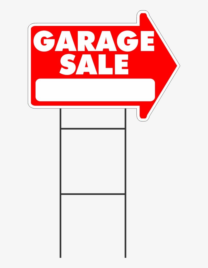 Garage Sale Yard Sale Rummage Sale Yard Sign Arrow - Garage Sale Sign Png, transparent png #793643