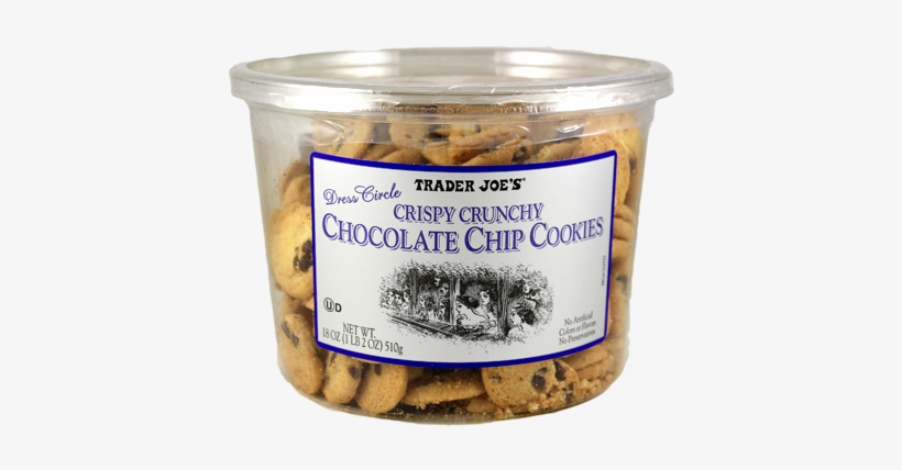 10727 Crispy Crunchy Chocolate Chip Cookies - Trader Joe's Chocolate Chip Cookies, transparent png #793993