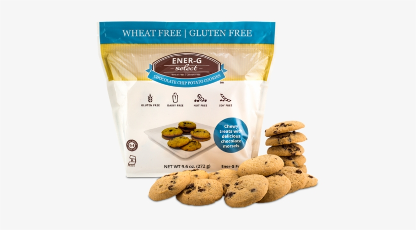 Ener-g Select Chocolate Chip Potato Cookies - Ener G Cookies, Potato, Chocolate Chip - 10 Oz, transparent png #794172