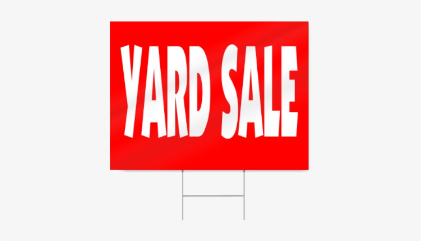 Yard Sale Sign In Red - Garage Sale, transparent png #794785