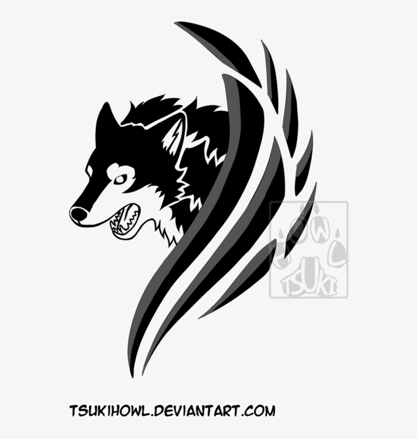 Tribal Angry Wolf By Tsukihowl On Deviantart Svg Transparent