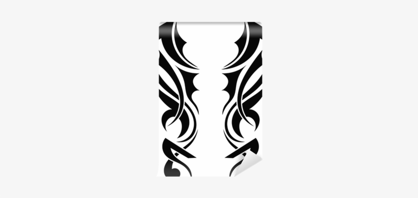 Graphic Design Tribal Tattoo Wings Wall Mural • Pixers® - Wing Tribal Design Vector, transparent png #798115