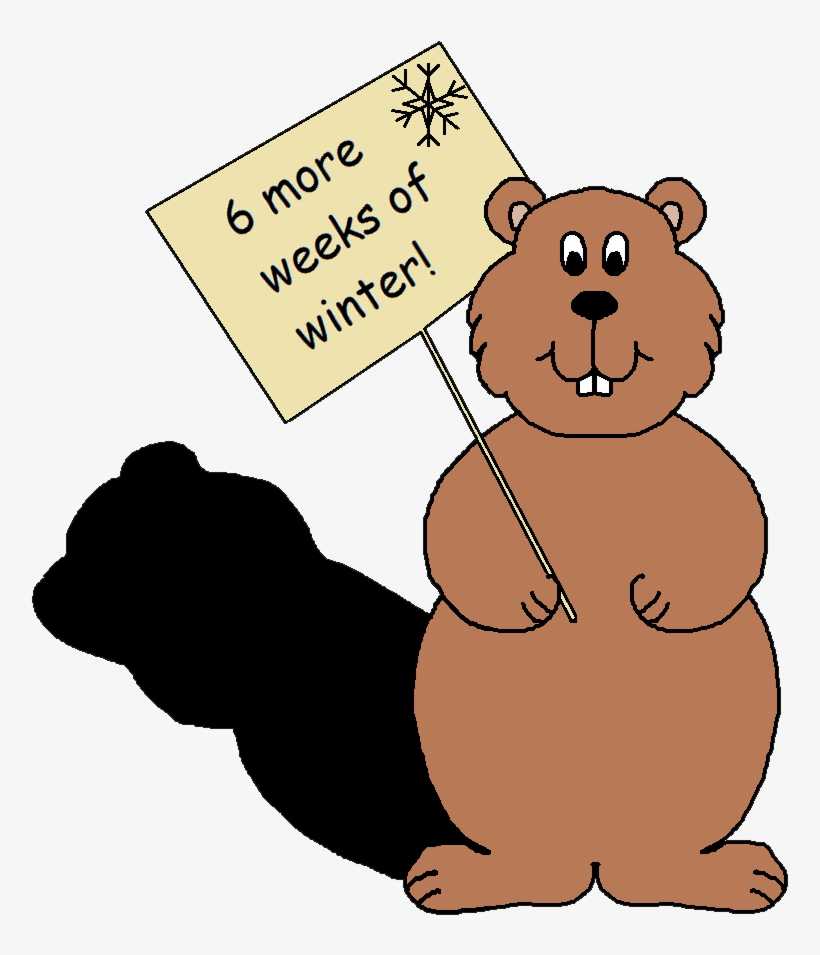 February groundhog. Clipart s day sees