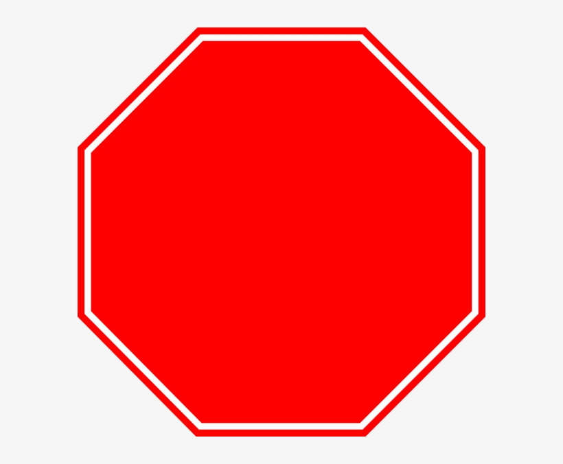 Blank Stop Sign - Blank Stop Sign Png, transparent png #799683