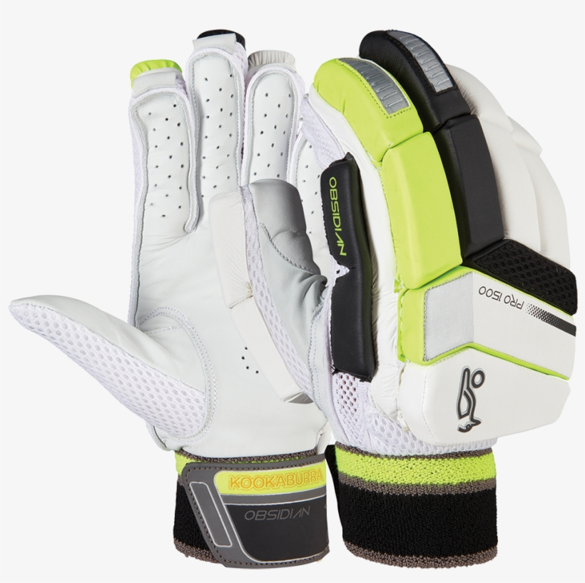 Kookaburra Obsidian Pro 1500 Batting Gloves - Kookaburra Obsidian Pro 1000 Gloves, transparent png #7900049