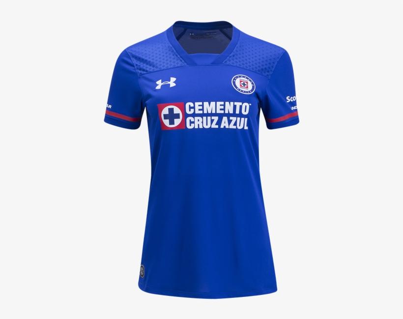 Cruz Azul Women Soccer Jersey - Playera Cruz Azul 2018 Png, transparent png #7907923
