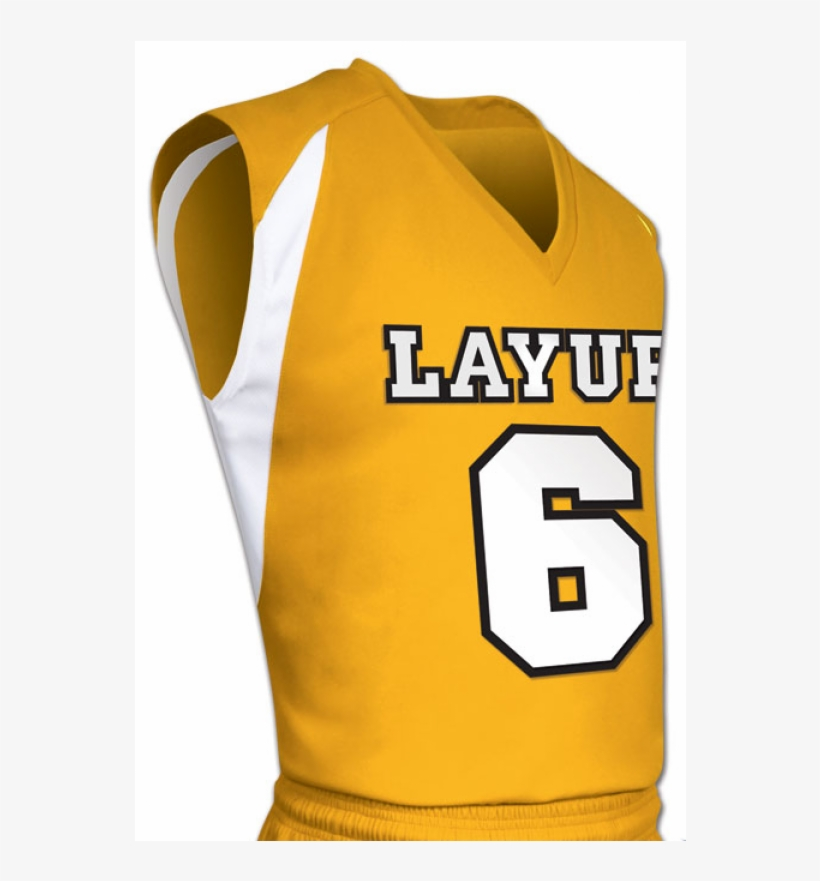 Gold White Lay Up Basketball Jersey - Basketball Jersey Grey Black, transparent png #7913111