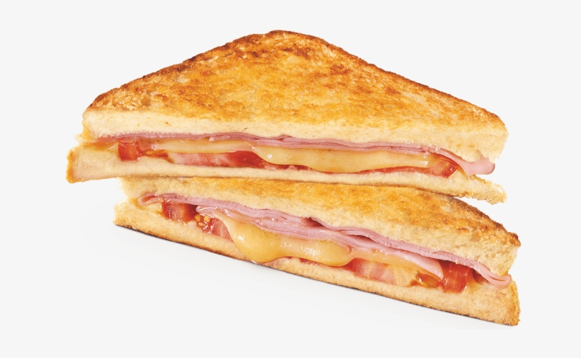 Ham Cheese & Tomato Toastie - Ham Cheese Tomato Toastie, transparent png #7916925