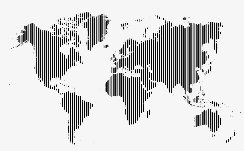 Big Image World Map Poster Black And White Hd Free Transparent