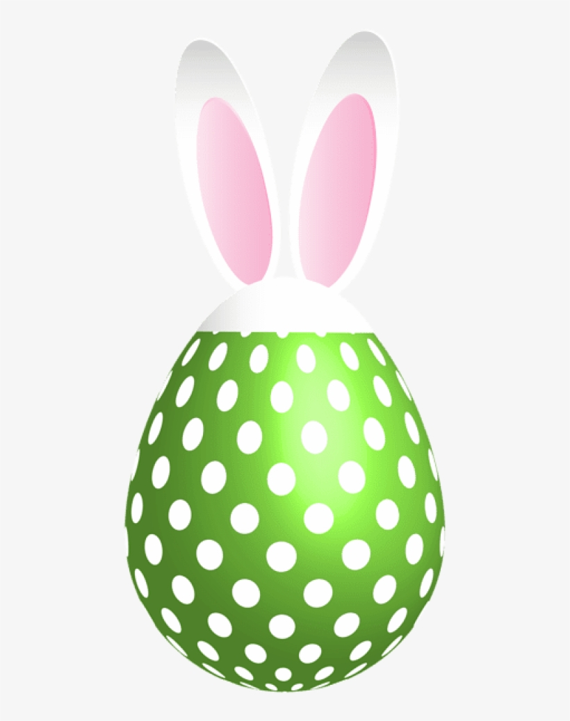 Free Png Download Easter Dotted Bunny Egg Green Png - Bunny Eggs Clipart Easter Clip Art Free, transparent png #7923181