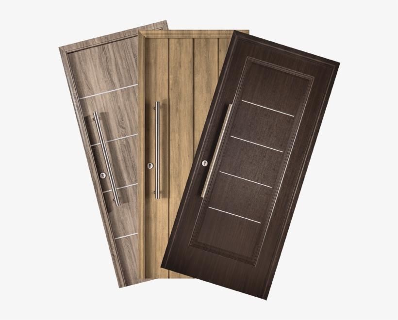 Puertas De Exterior Con Una Estructura Compuesta Por - Puertas En Pvc Para Baños, transparent png #7923577