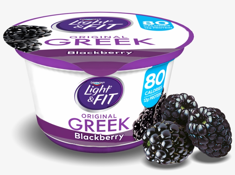 Blackberry Greek Yogurt - Dannon Light And Fit Greek Yogurt Toasted Marshmallow, transparent png #7933621
