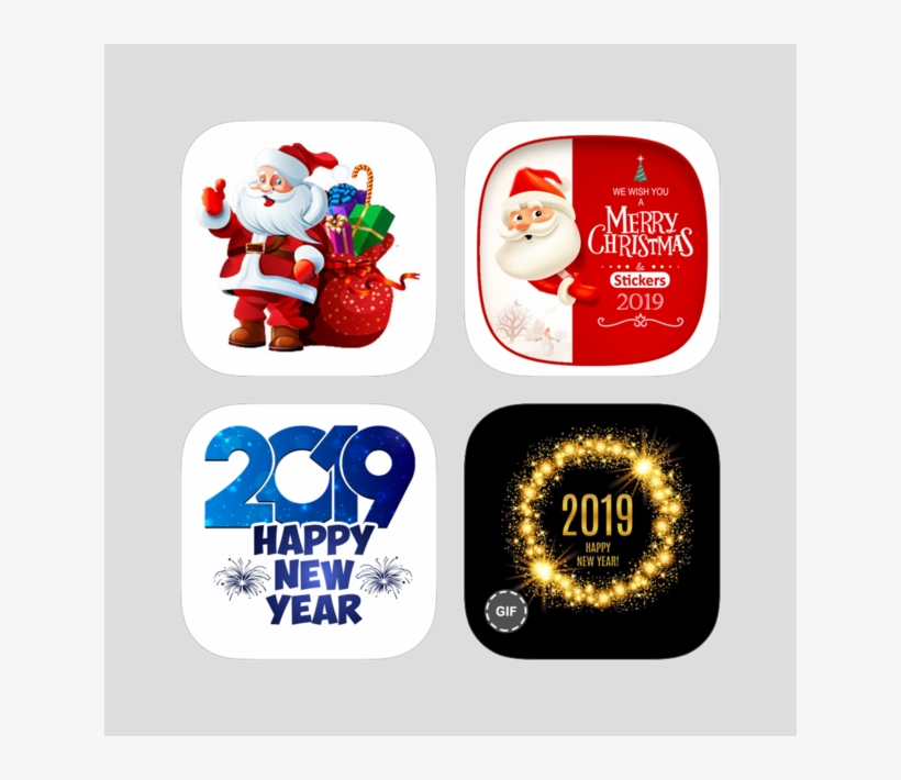 Stickers Happy New Year 2019 Bundle On The App Store - Happy New Year 2019 Sticker, transparent png #7934999