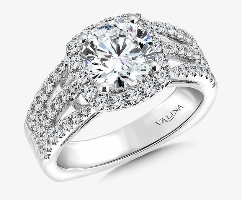 Stock - Square Diamond White Gold Engagement Ring, transparent png #7943094
