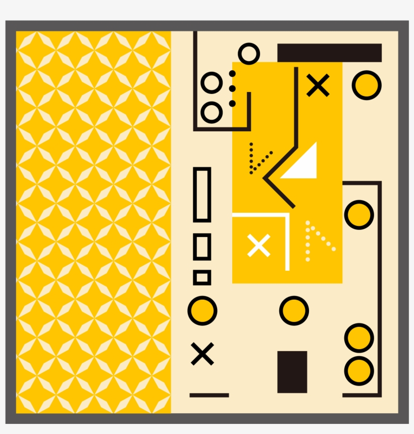 Memphis Art Geometric Lines Vector Ai Png And Image - Art, transparent png #7945126
