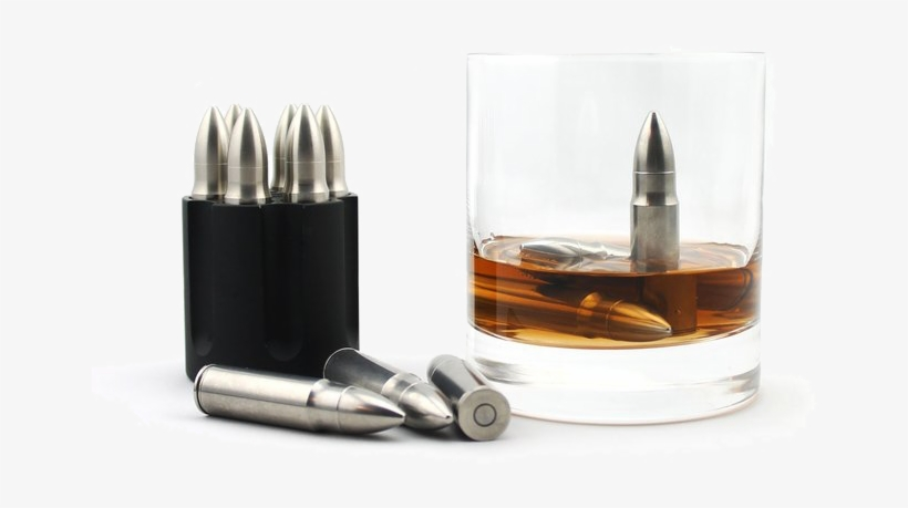 Sipdark Whiskey Bullet And Cylinder - Ice Bullets For Drinks, transparent png #7946659