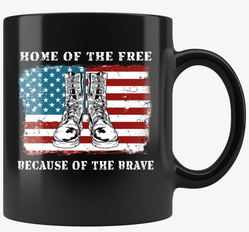 American Flag Home Of The Free Combat Boots Veterans - You Can T Make Everybody Happy You, transparent png #7953079