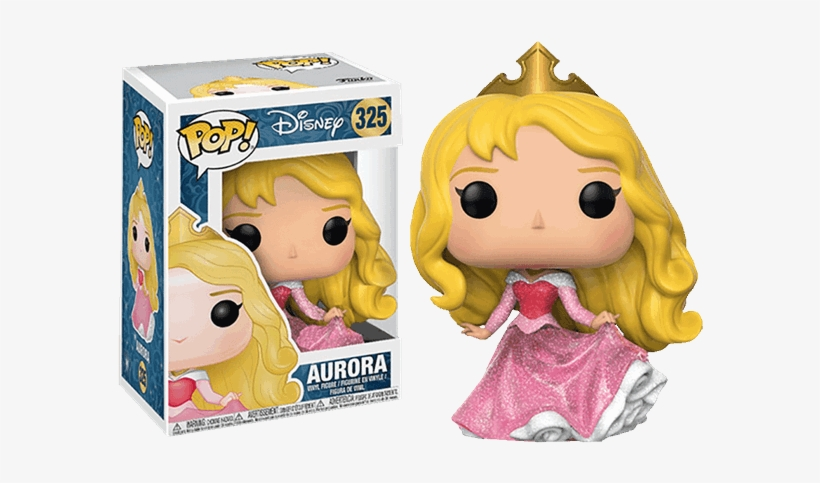 Aurora Disney Princess Glitter Pop Vinyl Figure - Funko Aurora Glitter, transparent png #7953334