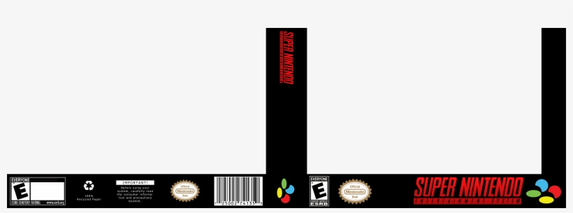 Super Nintendo Game Cover Template - Free Transparent PNG
