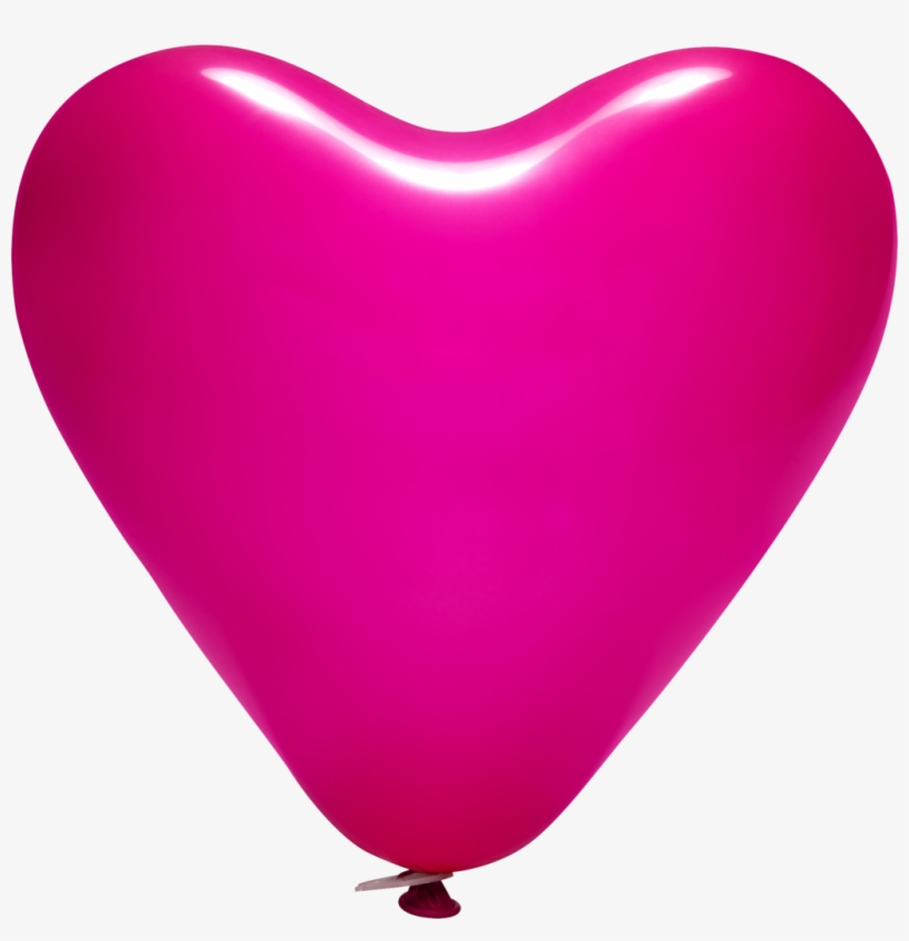 "12"" Printed Latex Heart Balloons - Balloon, transparent png #7963820"